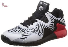 adidas Adizero Y3 2016, Chaussures de Tennis Homme, Multicolore (Core Black/White/Red), 45 1/3 EU - Chaussures adidas (*Partner-Link)