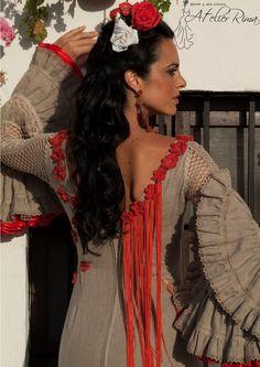 Traje de flamenca de lino 100% natural van AtelierRima op Etsy