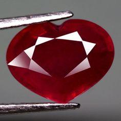 4.68CT.EXCELLENT! HEART FACET TOP BLOOD RED NATURAL RUBY MADAGASCAR #GEMNATURAL