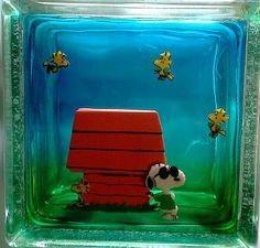 diy glass blockes | Idea only-Snoopy - Peanuts Character - Childrens NIGHT LIGHT - Light ...