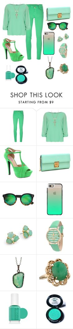 """""""Untitled #83"""" by jstahl21 ❤ liked on Polyvore featuring M Missoni, WearAll, Mojo Moxy, Dasein, Illesteva, Casetify, Kate Spade, Geneva, ADORNIA and Essie"""