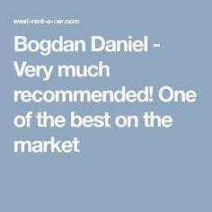 Bogdan Daniel - West Rent a Car Good Things, Marketing, Car, Automobile, Autos, Cars