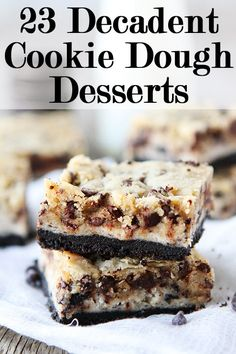 23 cookie dough desserts