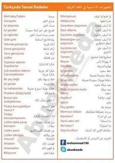 .. Learn Turkish Language, Arabic Language, Learning Arabic, English Vocabulary, Languages, Istanbul, Education, My Love, Words
