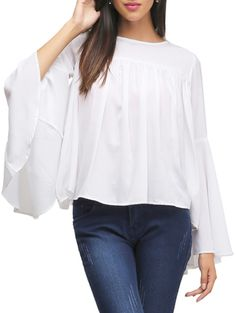 Buy Garrb white poly crepe  Online, , LimeRoad