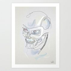 One line T800 Art Print by quibe - $19.76