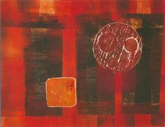 Just added one of my own prints to my Etsy shop Red Sun  - collagraph monoprint OOAK print by IanBertramUKArtist Find it here http://ift.tt/2zkdtsL