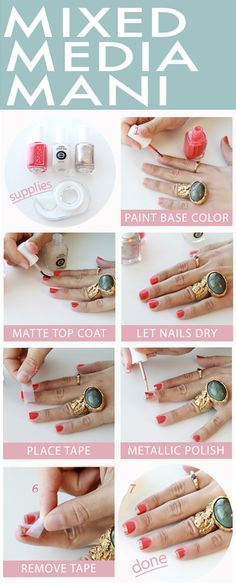 One among our favourite nail traits this spring is the mixed media manicure tutorial step by step