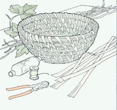 basket weaving instructions (pdf is at the end of the arrows)