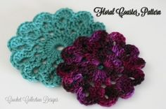 These floral coasters are beautiful and perfect for the spring season. Use bright colors to help bring life to your home.