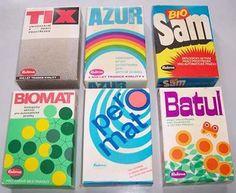 Communist-era Czechoslovak washing powder packaging