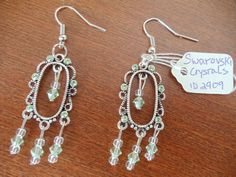 Handmade in USA Swarovski crystals pierced by AmberMoonGallery, $14.99