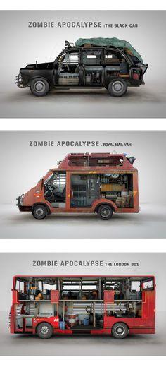 Vehículos para sobrevivir a un apocalipsis zombie.