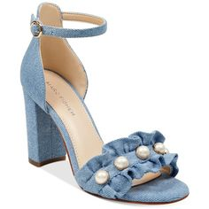 e0cfb71cad622 Marc Fisher King Pearl Ruffle Two-Piece Sandals ( 44) ❤ liked on Polyvore