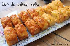Duo de mini cakes (saumon - lardons/oignons)