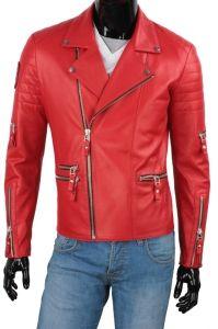 Ramoneska Skórzana Męska DORJAN CM ATN462 Red Leather, Leather Jacket, Model, Jackets, King, Clothes, Fashion, Fotografia, Studded Leather Jacket