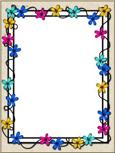 Flower Background Wallpaper, Flower Backgrounds, Paper Background, Boarder Designs, Page Borders Design, Borders For Paper, Borders And Frames, School Frame, Paper Cover
