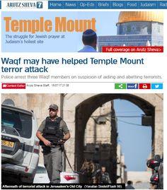 Nada de lo que extrañarse. Las mezquitas del Monte del Templo continuamente incitan a la violencia contra los ciudadanos israelíes.