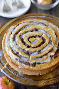 Apple Butter Cinnamon Roll Cake! bethcakes.com