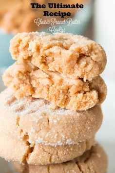 The ultimate recipe for a classic peanut butter cookie! Perfectly soft and oh my goodness good!!