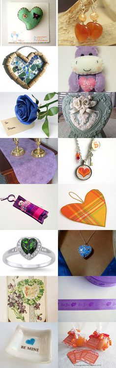 Non-Traditional Colors for Valentine's Day by Nancy on Etsy--Pinned with TreasuryPin.com