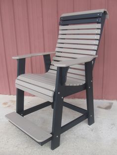 Lancasterpolypatio.com Adirondack Chairs, Outdoor Chairs, Outdoor Furniture, Outdoor Decor, Balcony Chairs, Back Deck, House With Porch, Diy Chair, Ladder