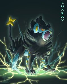 Day 4: Favorite Electric Type - Luxray Not only my favorite electric Pokemon, but my overall favorite ever. Always a staple on my team when I played Diamond and Platinum :)