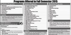Government College University Faisalabad Admission Fall 2015