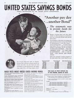 1936 # VINTAGE AD - UNITED STATES SAVINGS BONDS  10-3