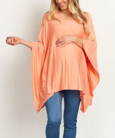 Another great find on #zulily! PinkBlush Peach Maternity Sidetail Poncho #zulilyfinds