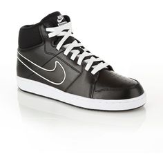 Nike Black Backboard leather high top trainers ($72) ❤ liked on Polyvore