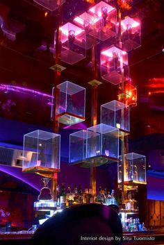 Nightclub – Design Siru Tuomisto Photo: Tommi A.sirutuomis… – All For Decoration Cafe Bar, Bar Pub, Nightclub Bar, Nightclub Design, Stage Design, Event Design, Neon Bleu, New Retro Wave, Bar Lounge