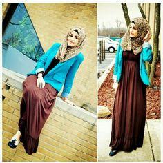Blue blazer n brown dresses