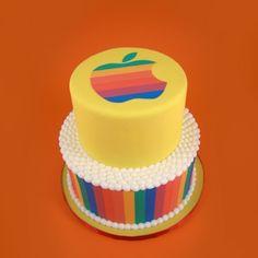Apple Rainbow Cake Cupcake Icing, Cupcake Cakes, Cupcakes, Rainbow Cakes, Rainbow Food, Rainbow Apple Logo, Cake Logo, My Birthday Cake, Rainbow Connection