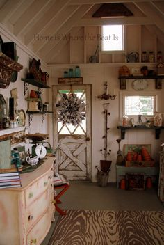 Wouldn't this be a great space for planting? Gorgeous Garden Shed