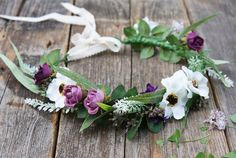 flower crown floral crown bridal flower crown wedding by mamwene