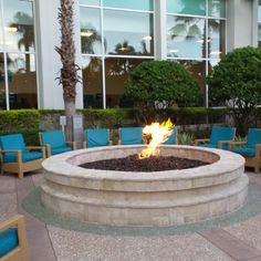 Fire Pits at the Hilton Orlando Hotel, Florida, USA Orlando Resorts, Florida Usa, Sea World, Fire Pits, Hotel Reviews, Outdoor Decor, Travel, Voyage, Campfires