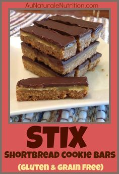 STIX bars!  (Like Twix bars, but much healthier ingredients!  Paleo/Primal, Gluten free, Grain free)  I would have to use Xylitol Honey for LC
