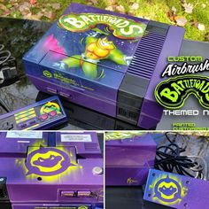 On instagram by cksigns1 #retrogaming #microhobbit (o) http://ift.tt/1XG4qrG airbrushed battle toads custom #nintendo #nes #nintendolife #nintendomag #igersnintendo #retrendogames #gamesyouloved  #battletoads #custompaintednintendo #customnes #customconsole #gamergirl #gamer #airbrushed #80s #90s #videogames #arcade #fanart #art #nerdlife #n64 #snes #purple