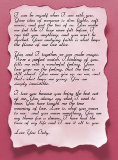 valentine letters for him
