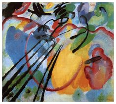 Improvisation 26 (Rowing) by @artistkandinsky #abstractart