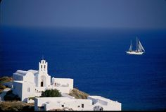 GREECE CHANNEL | Chrysopigi, Sifnos, Cyclades. The water in Greece is so blue! I neeeed to go there