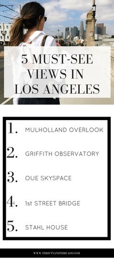 Whenever people travel to LA, these are must-visit spots for great views of the city. Plus, who doesn't love things to do that are cheap or even free — especially in a city like Los Angeles!