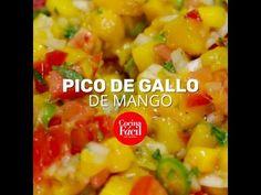 ¡Ponle mucho más sabor a tu comida con un pico de gallo de mango hecho en casa! Estos son los ingredientes que necesitas.