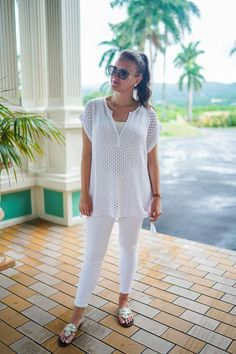 All White Resort Wear with Lilly Pulitzer