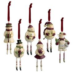 $193.00-$270.00 Grasslands Road Deck the Halls 6-1/2-Inch Snowman and Snowlady Dangle Feet Ornaments, Set of 30 - Grasslands road deck the halls snowman and snowlady dangle feet 6-1/2-inch ornaments six styles, set of 30. Add whimsy to your tree this holiday season with these nostalgic characters. A perfect party favor for your next holiday gathering to share with friends, family, neighbors, and ...