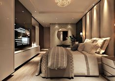 Enhance Your Senses With Luxury Home Decor Modern Luxury Bedroom, Master Bedroom Interior, Luxury Bedroom Design, Home Room Design, Luxurious Bedrooms, Home Decor Bedroom, Luxury Bedrooms, Bedroom With Tv, Bedroom Ideas
