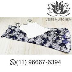 Regata de Malha Bordada R$ 7000  Saia longa Envelope Estampada R$ 8500  #vestemuitobem #moda #modafeminina #modaparameninas #estilo #roupas #lookdodia #like4like #roupasfemininas #tendência #beleza #bonita #gata #linda #elegant #elegance