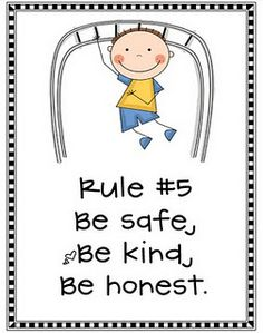 Class rules and expectations.  Practiced with Whole Brain Teaching.