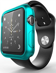 Apple Watch Case, E LV [Ultra-Thin] Apple Watch 38mm Case [Slim] Premium Semi-transparent Super Lightweight / Exact Fit / Absolutely NO Bulkiness Soft Case for Apple Watch 38mm with 1 Microfiber Cleaning Cloth [TURQUOISE] - Apple Watch Bands, Accessories and Reviews
